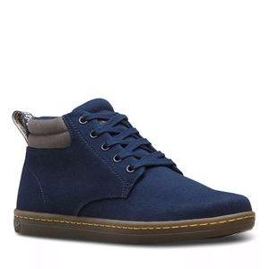 Dr Martens Canvas Boots blue Maleke Lace Up US 8